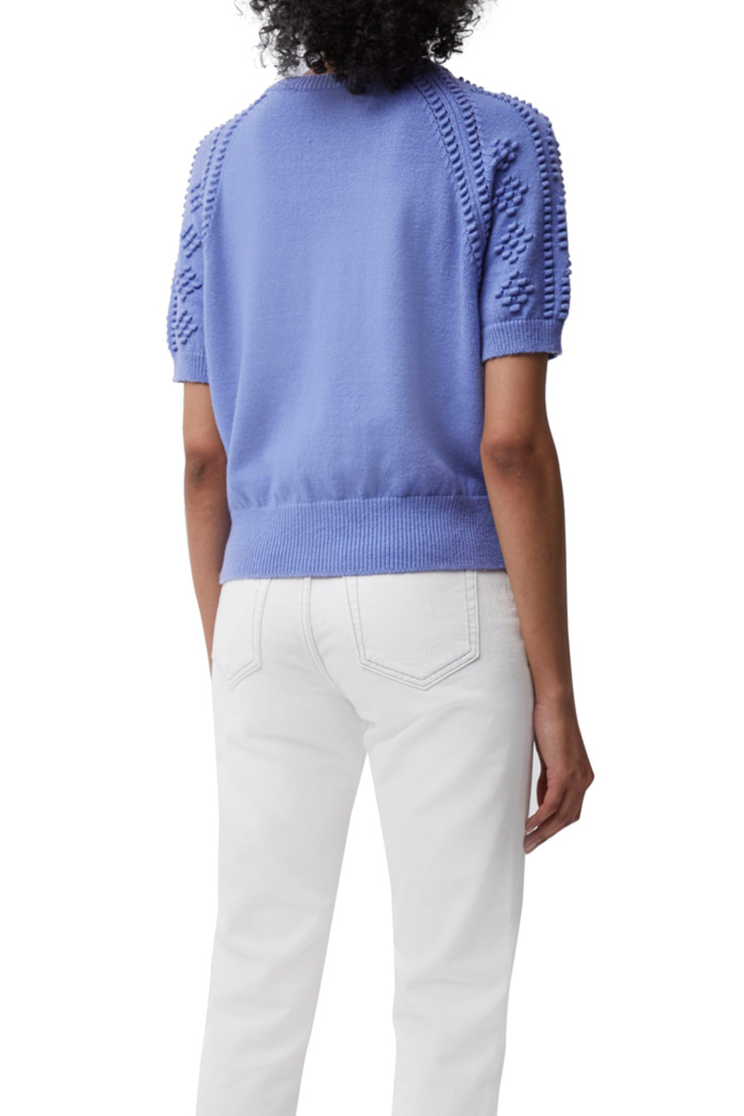 French Connection Karla Knitted Short Sleeve Jumper - Front Full Image