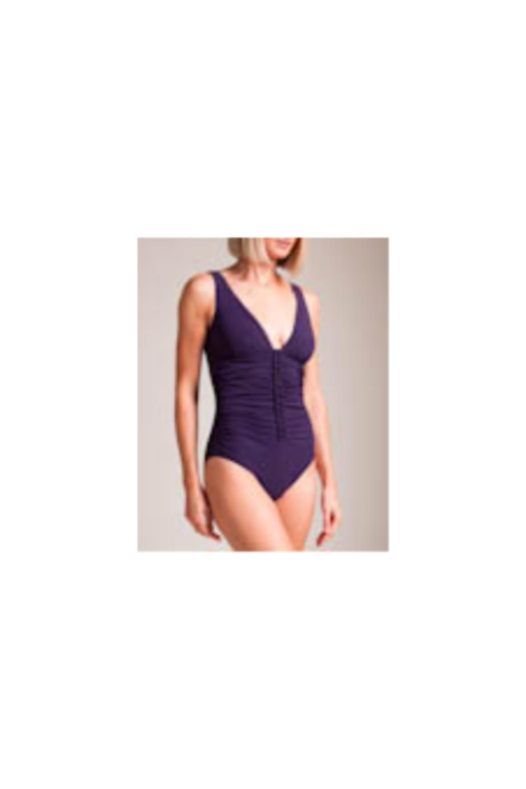 Karla Colletto Joana V-Neck One-Piece - Front Cropped Image