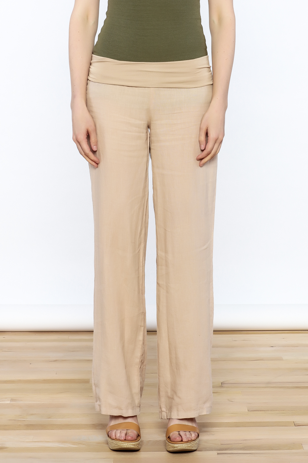 Karlie All Linen Pants - Front Full Image