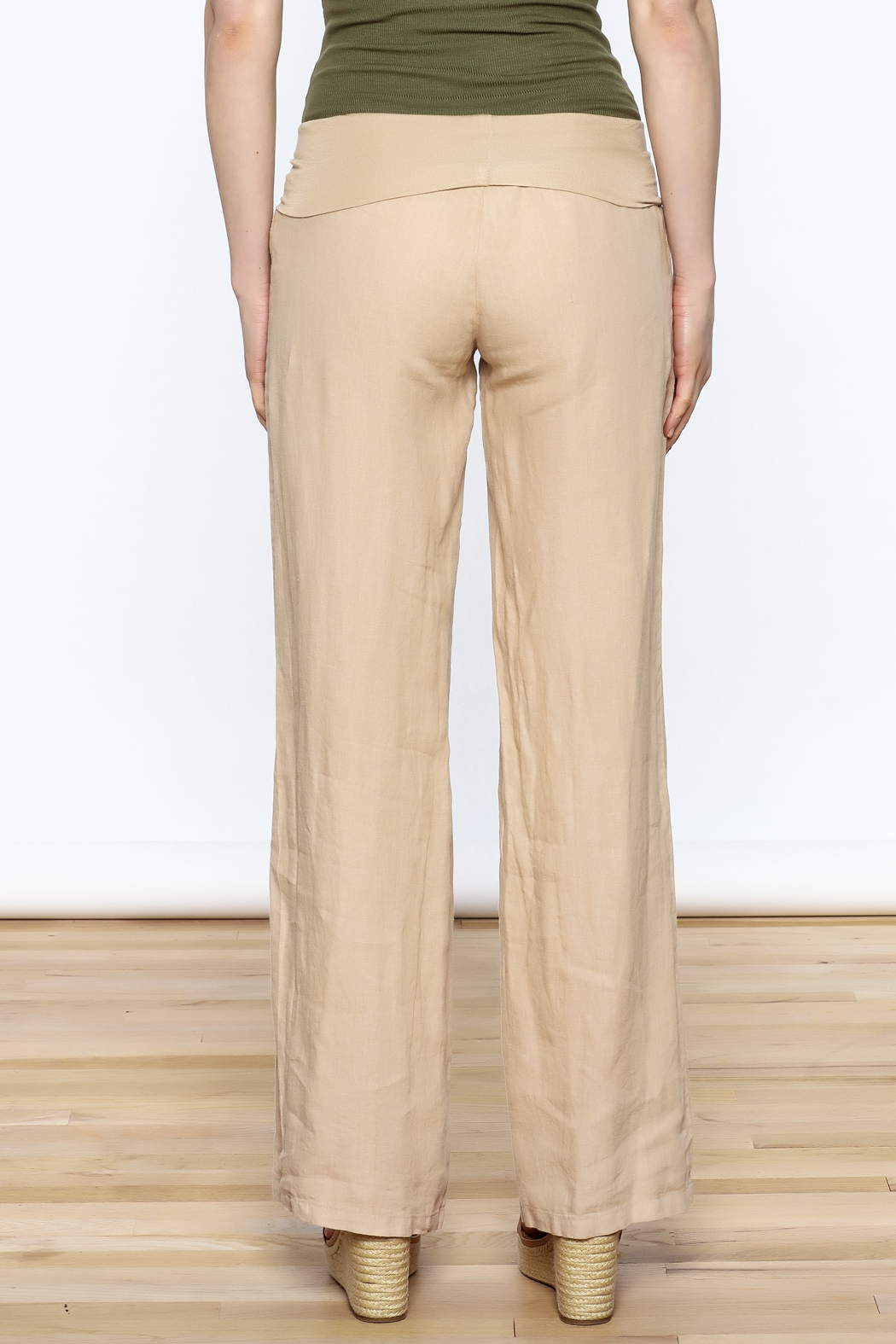 Karlie All Linen Pants - Back Cropped Image