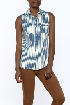 Karlie Stripe Button-Down Top - Product List Image