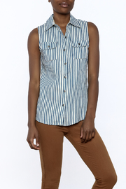 Karlie Stripe Button-Down Top - Front cropped
