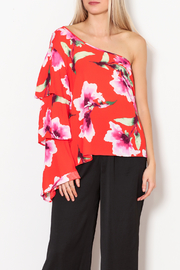 Karlie Clothes Floral ruffle Top - Product Mini Image