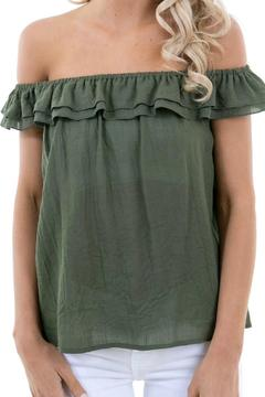 Shoptiques Product: Olive Cotton Top