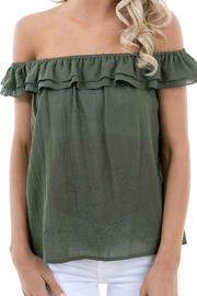 Karlie Olive Cotton Top - Product Mini Image