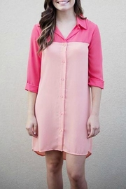 Karlie Colorblock Shirt Dress - Product Mini Image