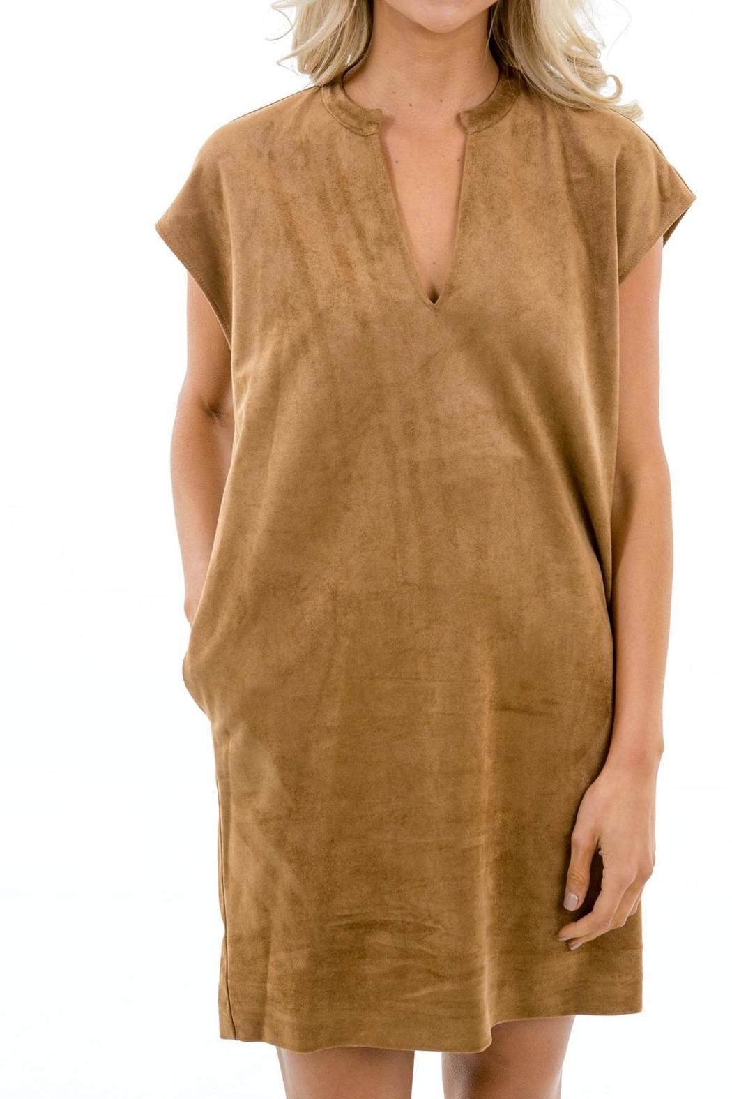 Karlie Faux Suede Dress - Front Full Image