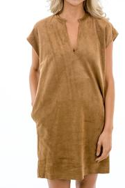 Karlie Faux Suede Dress - Front full body