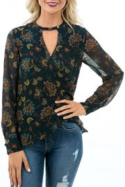 Karlie Floral Keyhole Top - Product Mini Image