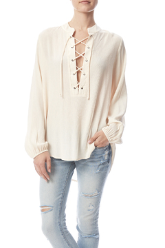 Shoptiques Product: Lace Up Gauze Top