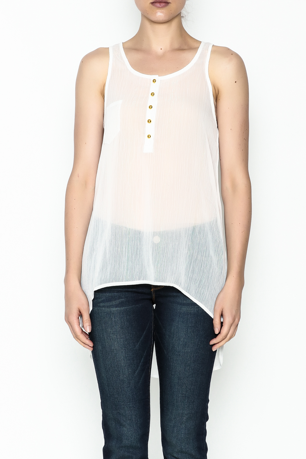 Karlie Lurex Pocket Tank - Front Full Image