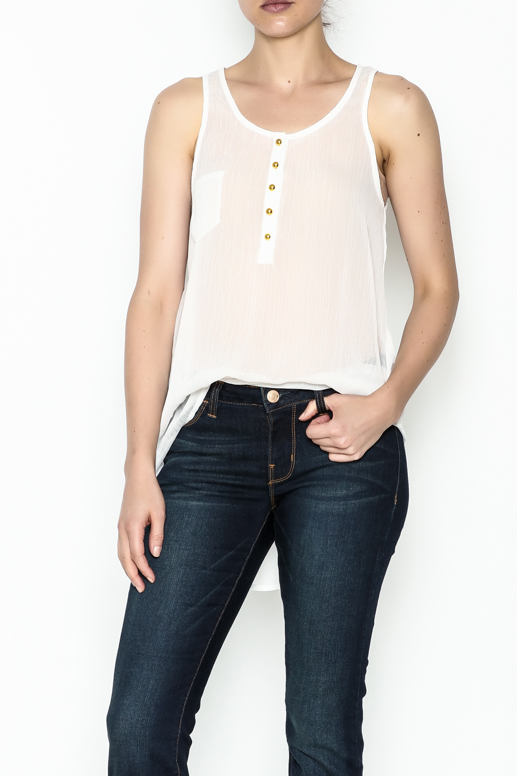 Karlie Lurex Pocket Tank - Main Image