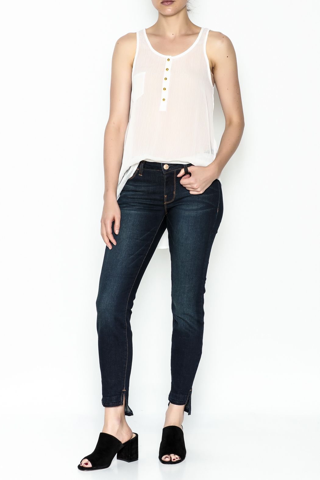 Karlie Lurex Pocket Tank - Side Cropped Image