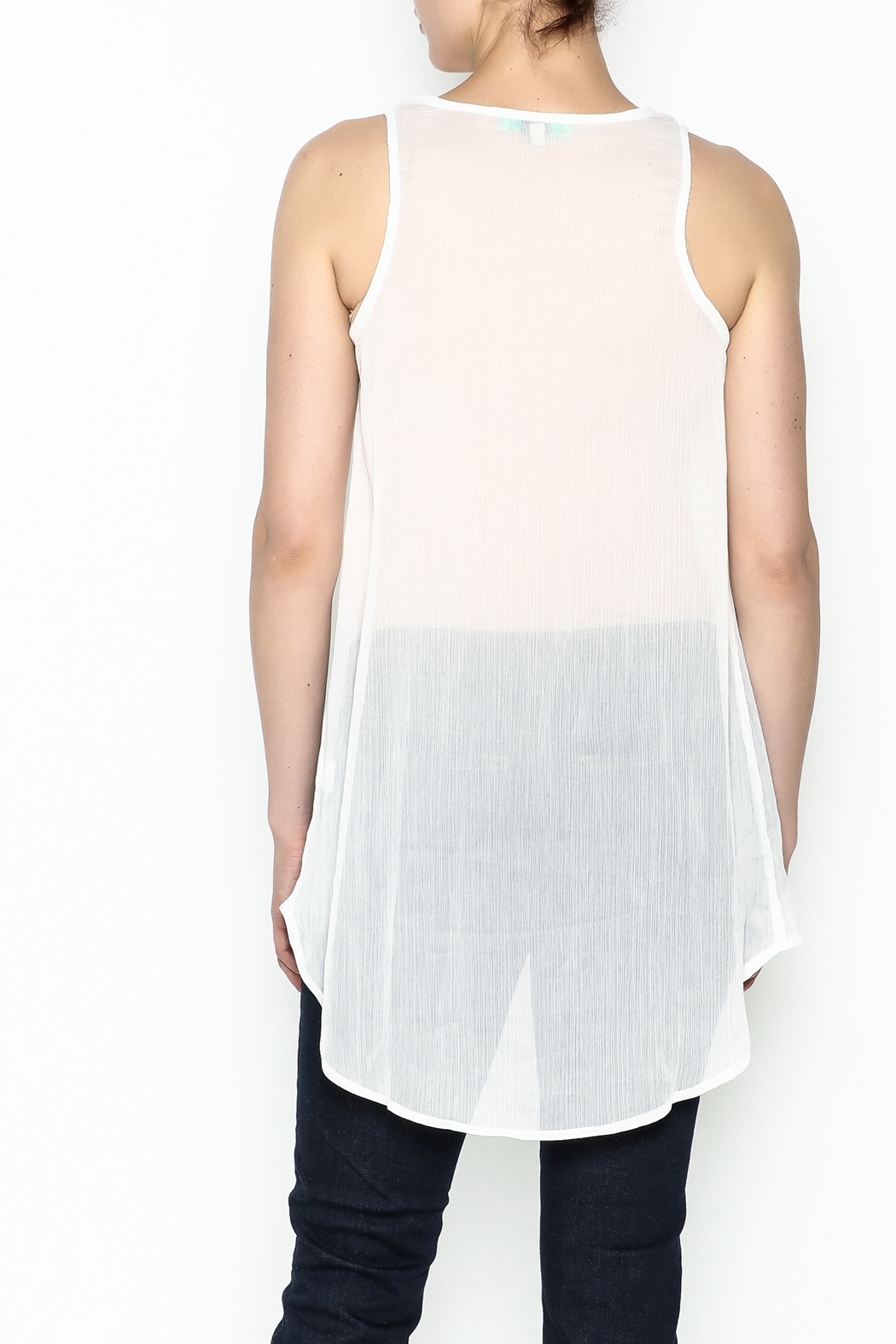 Karlie Lurex Pocket Tank - Back Cropped Image