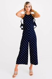 Karlie Navy Polka-Dot Jumpsuit - Product Mini Image