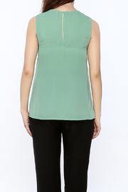Karlie Mint Green Sleeveless Top - Back cropped