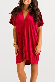 Karlie Vneck Velvet Dress - Product Mini Image