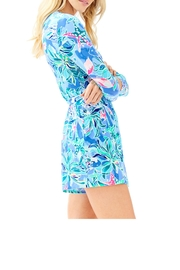 Lilly Pulitzer Karlie Wrap Romper - Side cropped