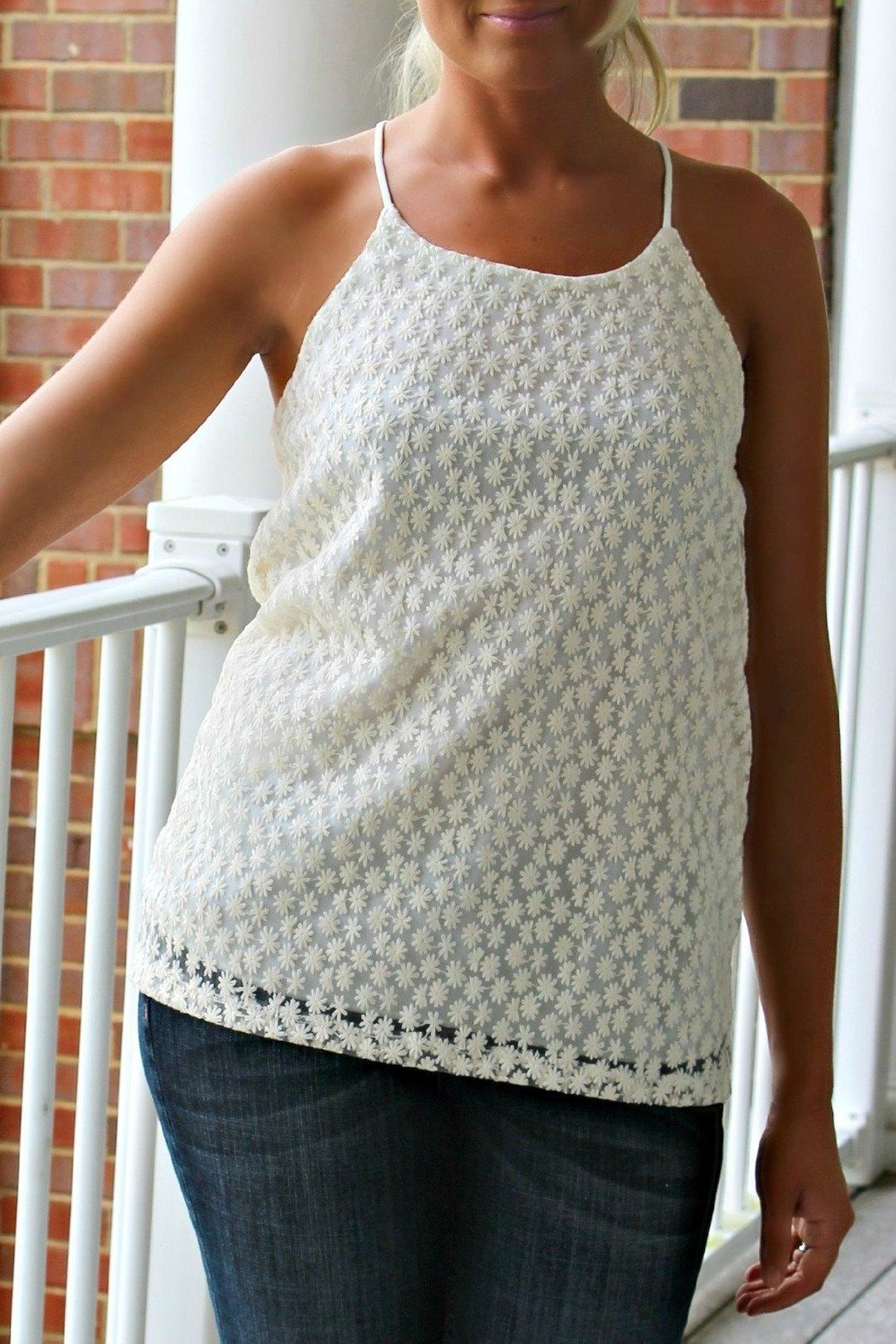 Karlie Clothes Tiny Lace Tank - Side Cropped Image