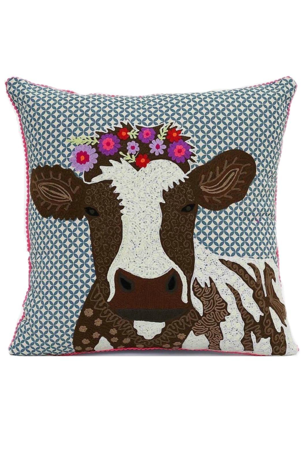 Karma Living Cow Pillow From Maryland By Curlicue Shoptiques
