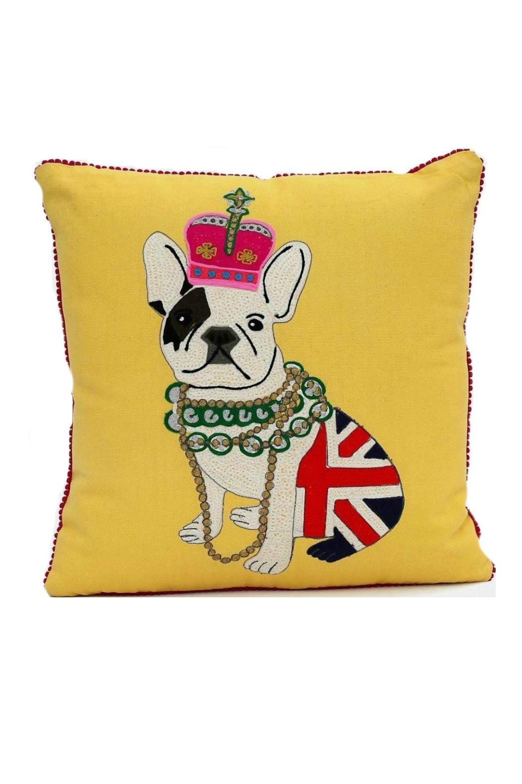 Karma Living French Bulldog Cushion   Front Cropped Image