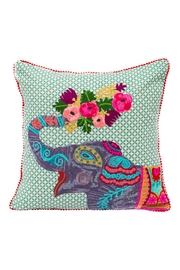 Karma Living Lucky Elephant Pillow - Front cropped