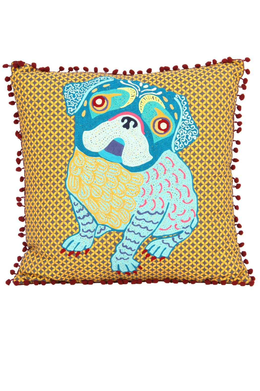 Exceptional Karma Living Pug Pillow   Front Full Image