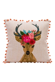 Karma Living Reindeer Pillow - Front cropped