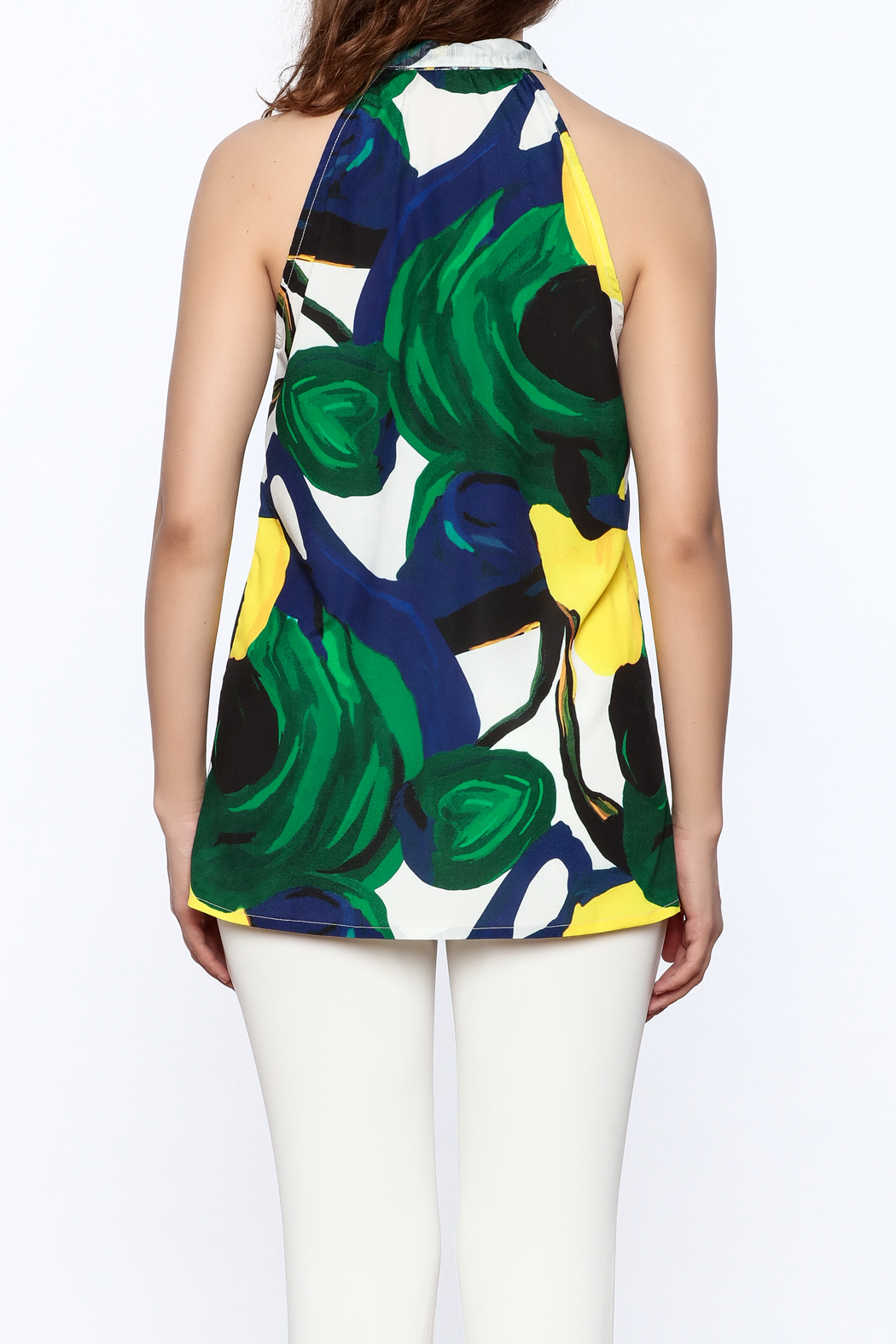 KAS New York Amelia Abstract Print Top - Back Cropped Image