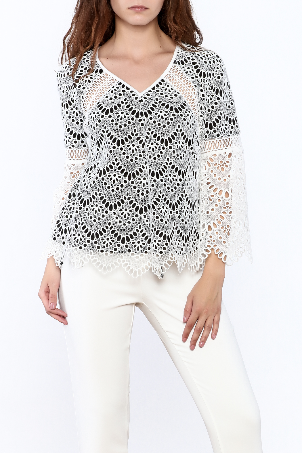 KAS New York Semi Lined Lace Top - Main Image