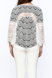 KAS New York Semi Lined Lace Top - Back cropped