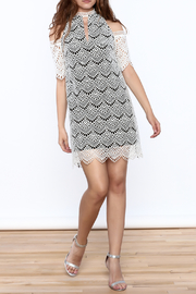 KAS New York Semi Lined Lace Dress - Front full body