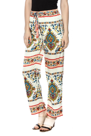 KAS New York Print Drawstring Pant - Front cropped