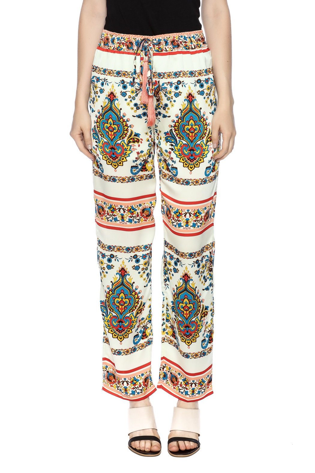 KAS New York Print Drawstring Pant - Side Cropped Image