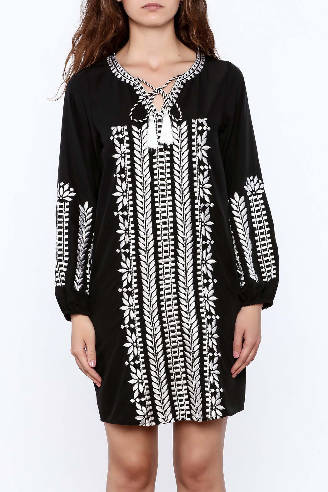 KAS New York Trudy Embroidered Dress - Side Cropped Image