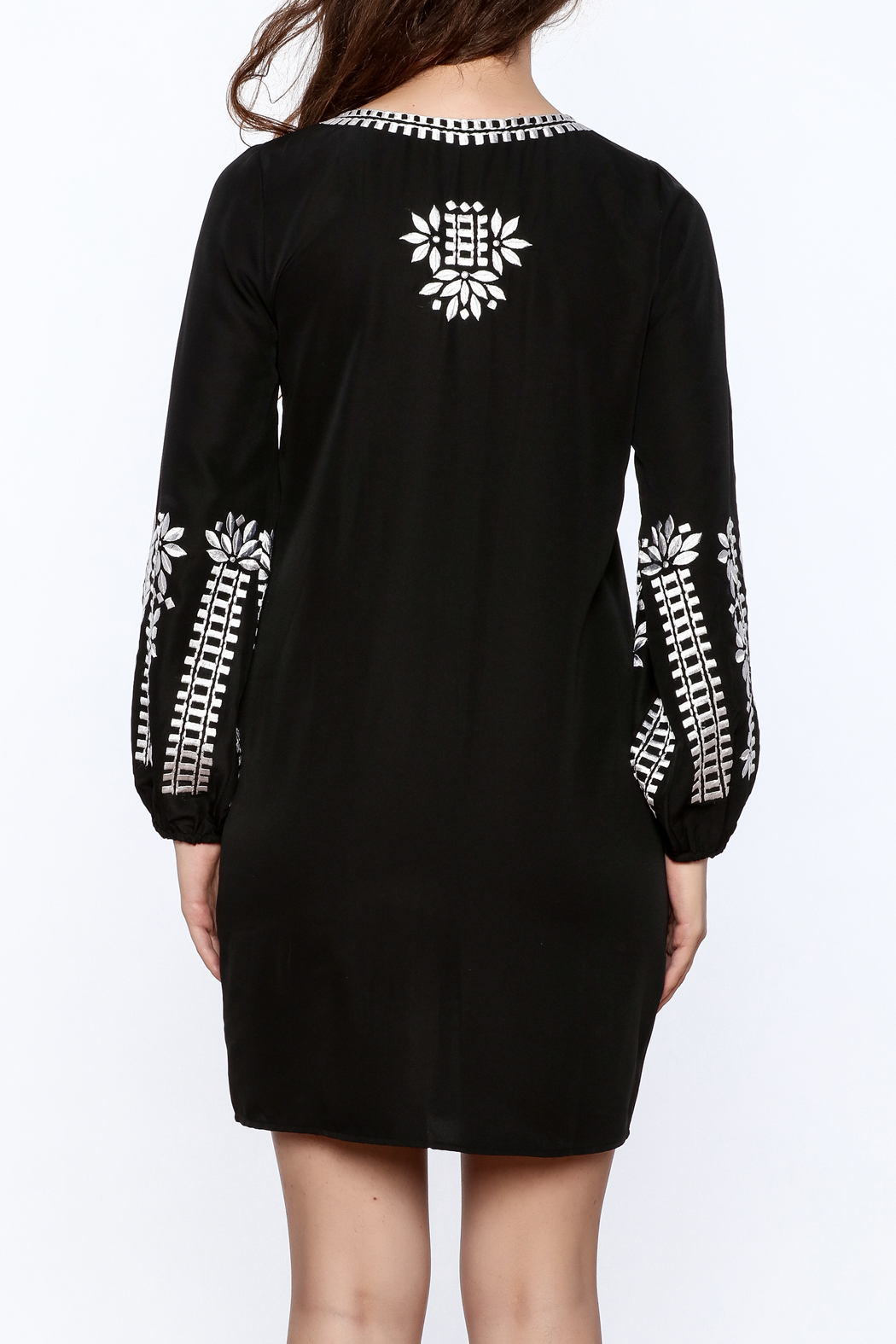 KAS New York Trudy Embroidered Dress - Back Cropped Image