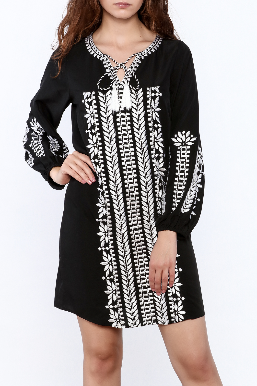 KAS New York Trudy Embroidered Dress - Front Cropped Image