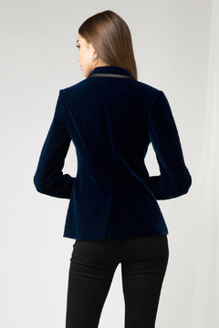 Adelyn Rae Kasia Velvet Blazer - Alternate List Image