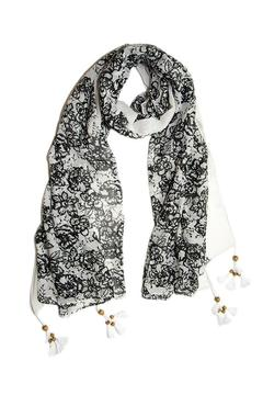 Shoptiques Product: Tassel Black Scarf