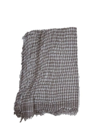 Kaskol Grey Checkered Scarf - Product Mini Image