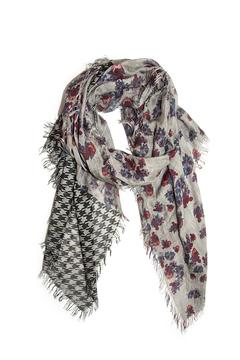Shoptiques Product: Roses Houndstooth Fantasy Scarf