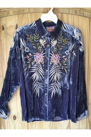 Johnny Was Kasumi Velvet Shirt - Front cropped