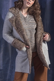 Maude Kate Knit & Fur Cardi Jacket - Product Mini Image