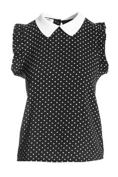 kate by laltramoda Spotty Collar Blouse - Product List Image