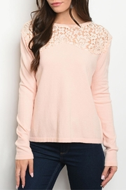 Kate Collection Blush Crochet Sweater - Product Mini Image