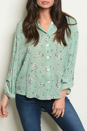 Kate Collection Sage Floral Top - Product Mini Image