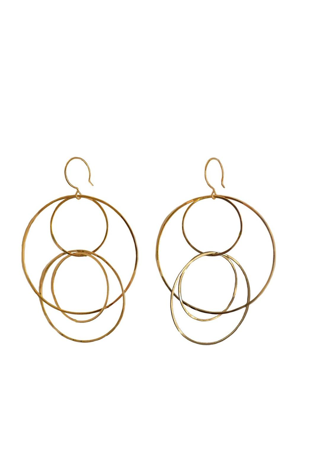 Kate Jack Jewelry Figure Eight Hoops - Front Cropped Image