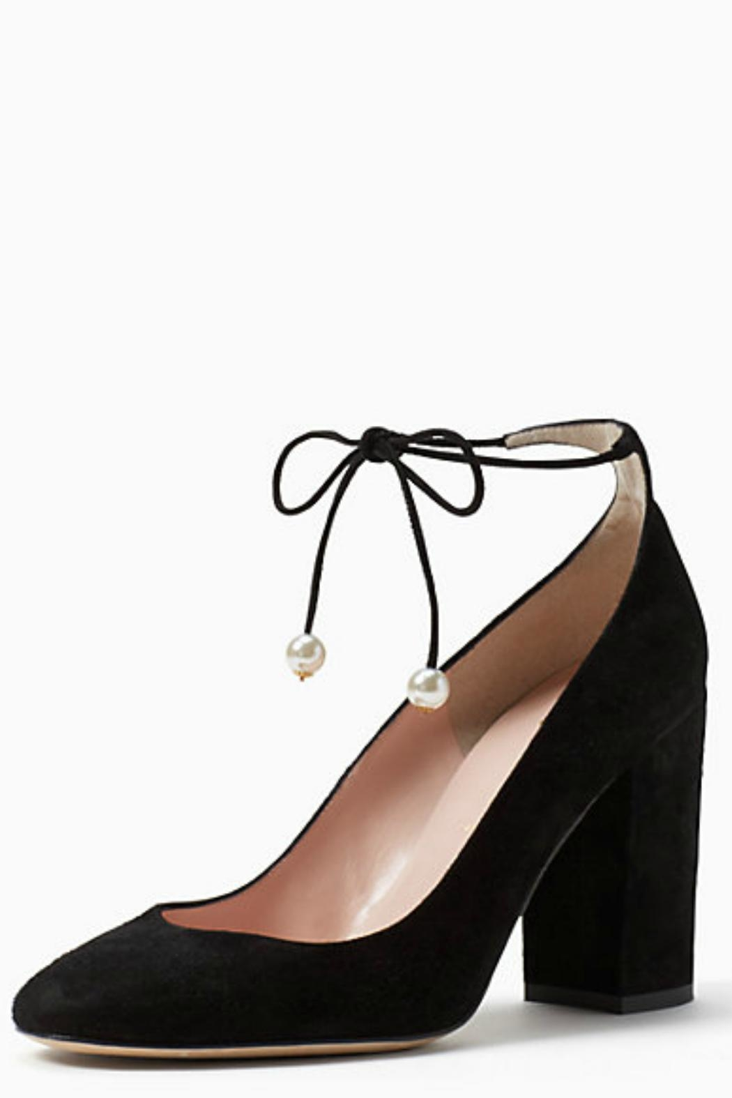 Kate Spade New York Gena Pearl Tie Shoes - Front Full Image