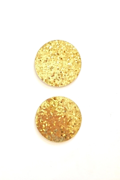 Shoptiques Product: Gold Glitter Coasters