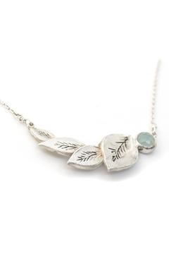 Shoptiques Product: Aqua Leaf Necklace
